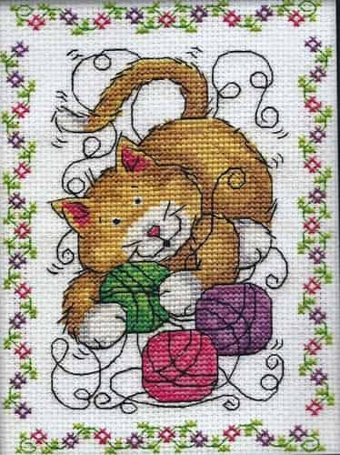 Design Works Cross Stitch Kit - Yarn Cat