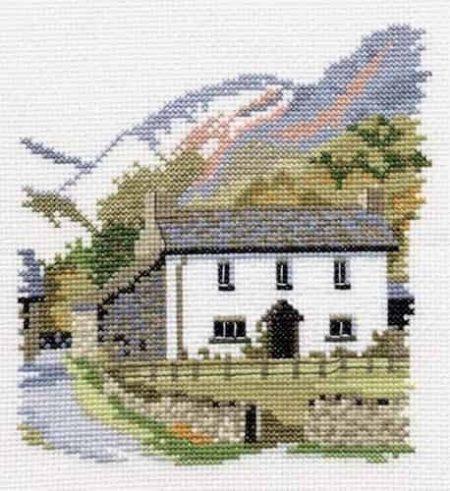Derwentwater Designs Cross Stitch Kit - Dales Designs - Yew Tree Farm