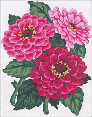 Grafitec Needlepoint Tapestry Kit - Zinnias
