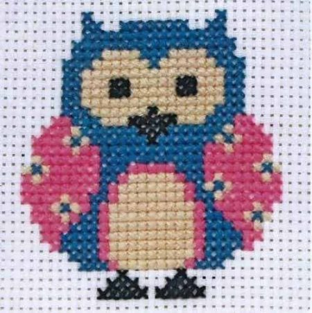 Anchor Beginners 1st Cross Stitch Kit - Zoe Owl 10001